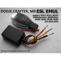 Емулятор ESL (затраска) Mercedes,VW Crafter, Dodge. Емулятор замка руля